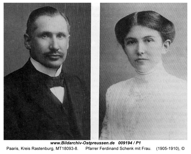 Paaris, Kirche, Pfarrer Ferdinand Schenk mit Frau