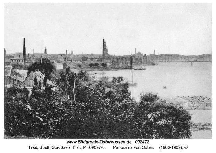 Tilsit, Panorama von Osten