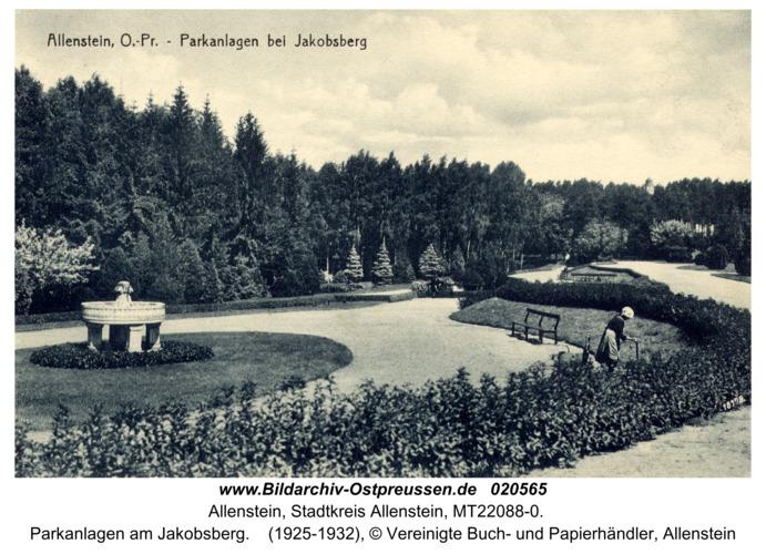 Allenstein, Parkanlagen am Jakobsberg