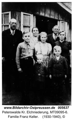 Peterswalde, Familie Franz Keller