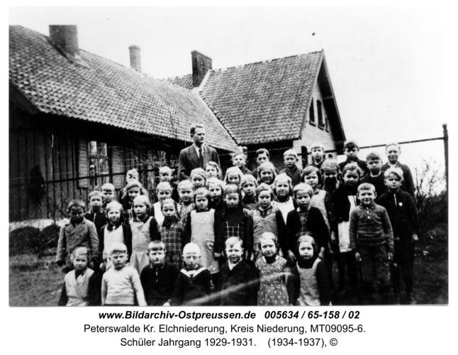 Peterswalde, Schüler Jahrgang 1929-1931