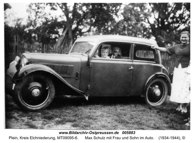 Plein, Max Schulz mit Frau und Sohn im Auto