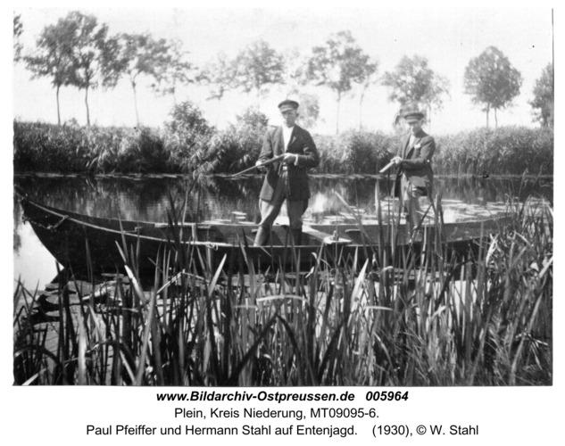 Plein, Paul Pfeiffer und Hermann Stahl auf Entenjagd