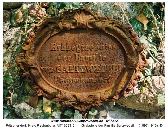 Pötschendorf, Grabstelle der Familie Saltzwedell