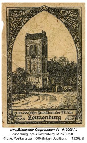 Leunenburg, Kirche, Postkarte zum 600jährigen Jubiläum