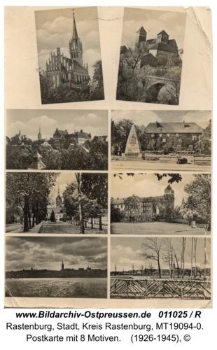 Rastenburg, Postkarte mit 8 Motiven