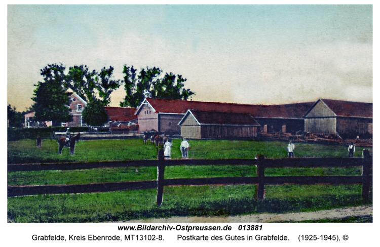 Grabfelde, Postkarte des Gutes in Grabfelde