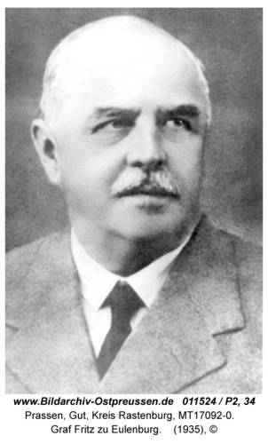 Prassen, Fritz Graf zu Eulenburg
