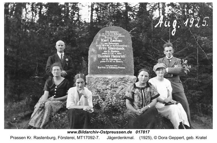 Prassen, Jägerdenkmal
