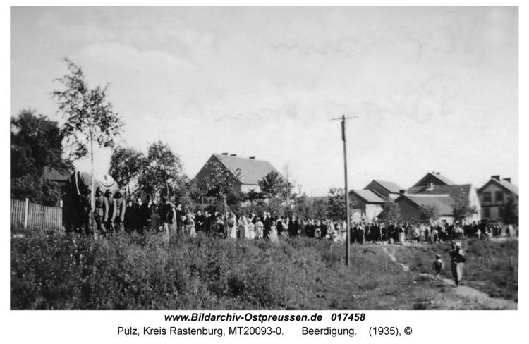 Pülz, Beerdigung