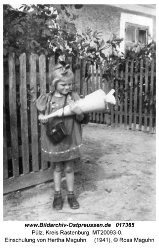 Pülz, Schule, Einschulung von Hertha Maguhn