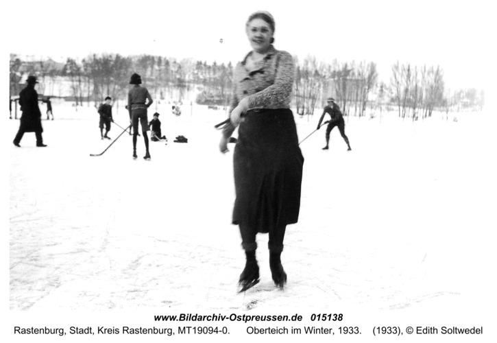 Rastenburg, Oberteich im Winter, 1933