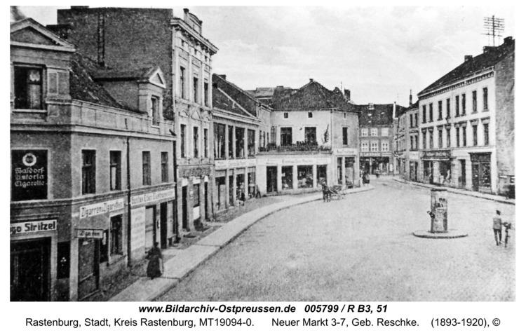 Rastenburg, Neuer Markt 3-7, Geb. Reschke