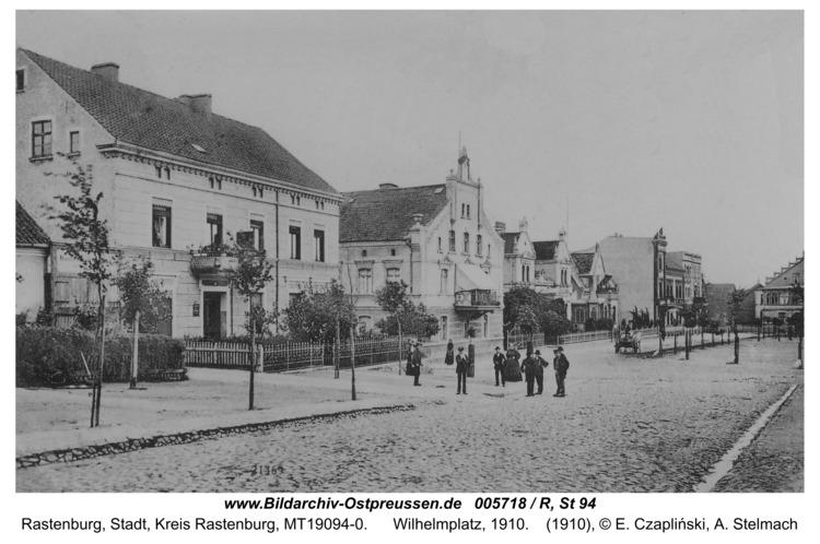 Rastenburg, Wilhelmplatz, 1910