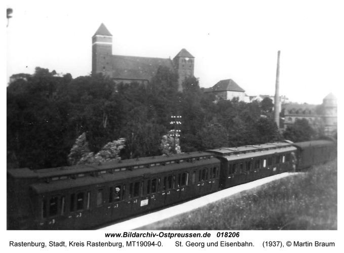 Rastenburg, St. Georg und Eisenbahn