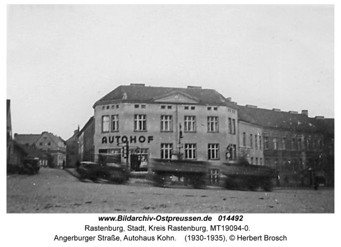 Rastenburg, Angerburger Straße, Autohaus Kohn