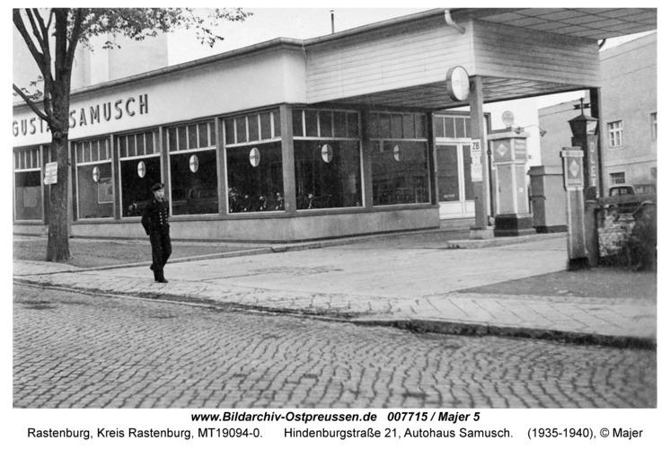 Rastenburg, Hindenburgstraße 27, Autohaus Samusch