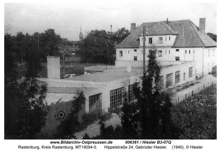 Rastenburg, Hippelstraße 24, Gebrüder Hiesler