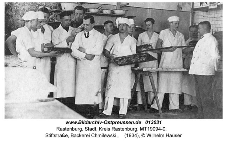 Rastenburg, Stiftstraße, Bäckerei Chmilewski