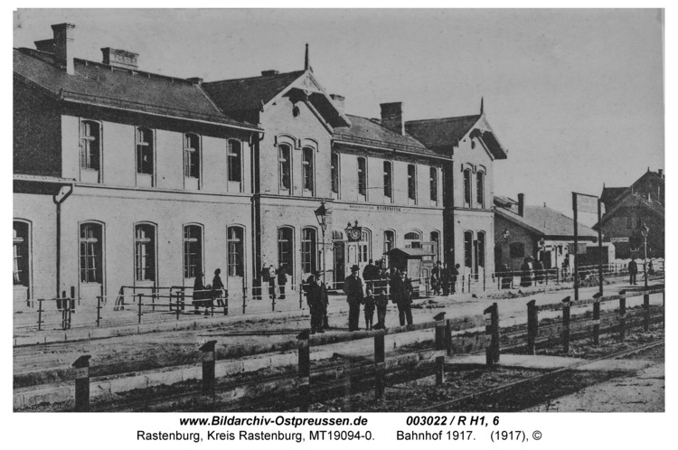 Rastenburg, Bahnhof 1917