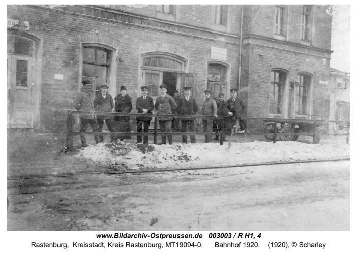 Rastenburg, Bahnhof 1920