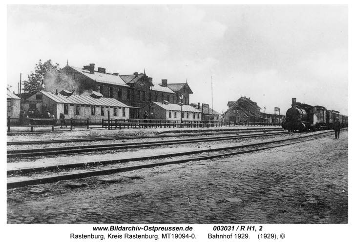 Rastenburg, Bahnhof 1929