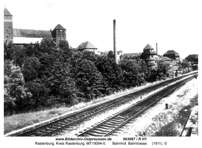 Rastenburg, Bahnhof, Bahntrasse