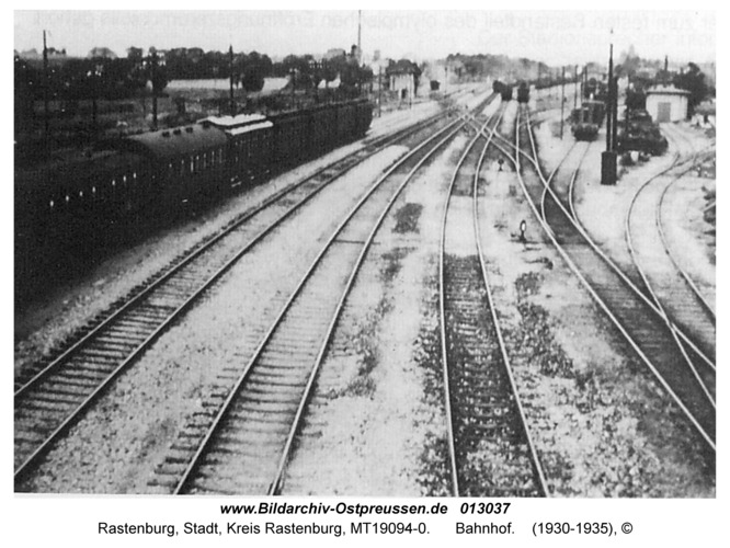 Rastenburg, Bahnhof