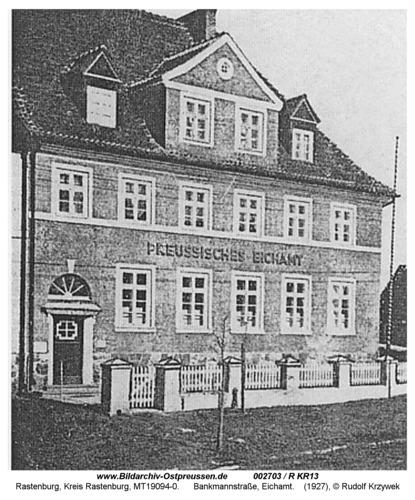 Rastenburg, Bankmannstraße, Eichamt