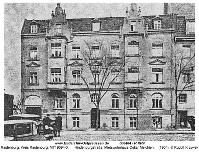Rastenburg, Hindenburgstraße, Mietswohnhaus Oskar Melchien