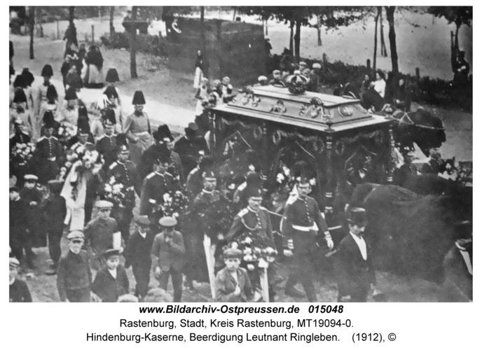 Rastenburg, Hindenburg-Kaserne, Beerdigung Leutnant Ringleben