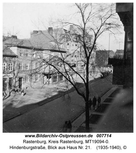 Rastenburg, Hindenburgstraße, Blick aus Haus Nr. 21