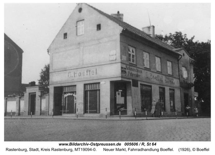 Rastenburg, Neuer Markt, Fahrradhandlung Boeffel