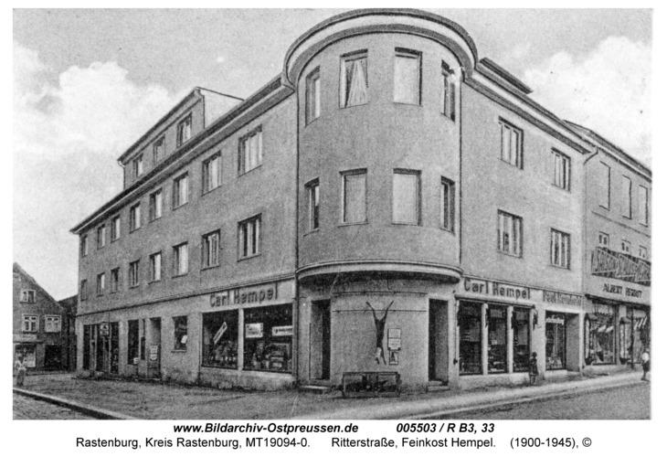 Rastenburg, Ritterstraße 9, Feinkost Hempel