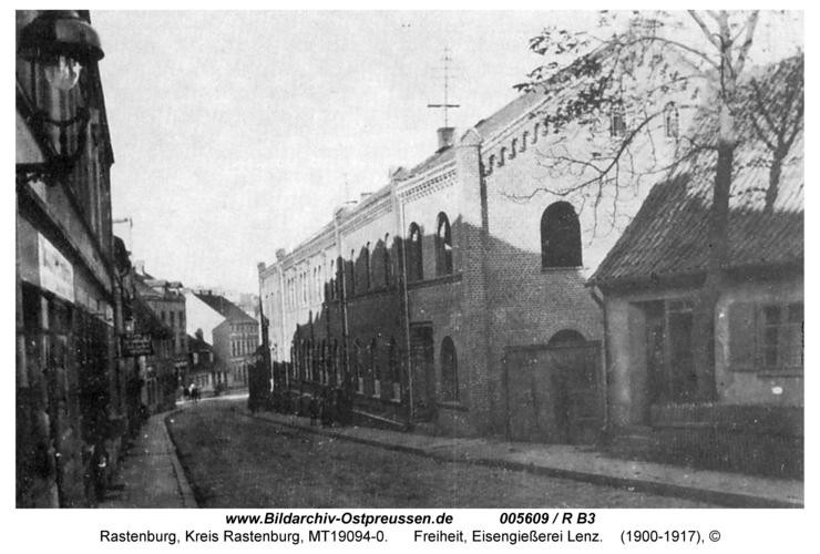 Rastenburg, Freiheit, Eisengießerei Lentz