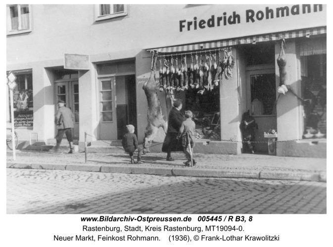 Rastenburg, Neuer Markt, Feinkost Rohmann