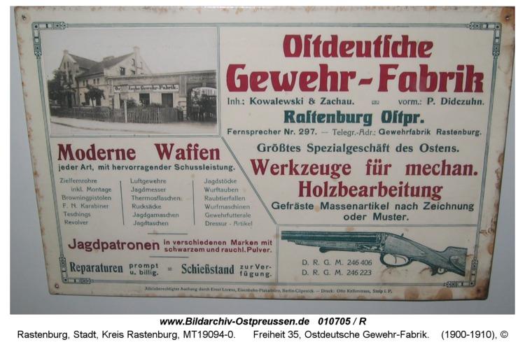 Rastenburg, Freiheit 35, Ostdeutsche Gewehr-Fabrik