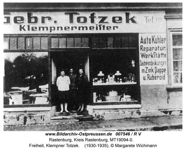 Rastenburg, Freiheit, Klempner Totzek