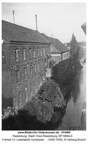 Rastenburg, Freiheit 13, Lederfabrik Hundrieser