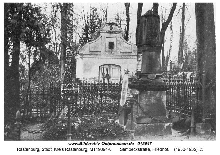 Rastenburg, Sembeckstraße, Friedhof