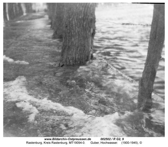 Rastenburg, Guber, Hochwasser