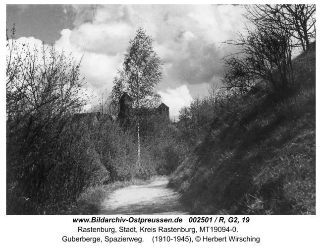 Rastenburg, Guberberge, Spazierweg