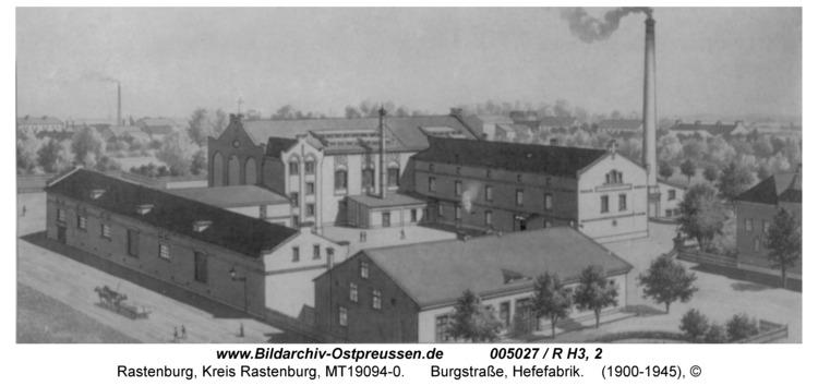 Rastenburg, Burgstraße, Hefefabrik