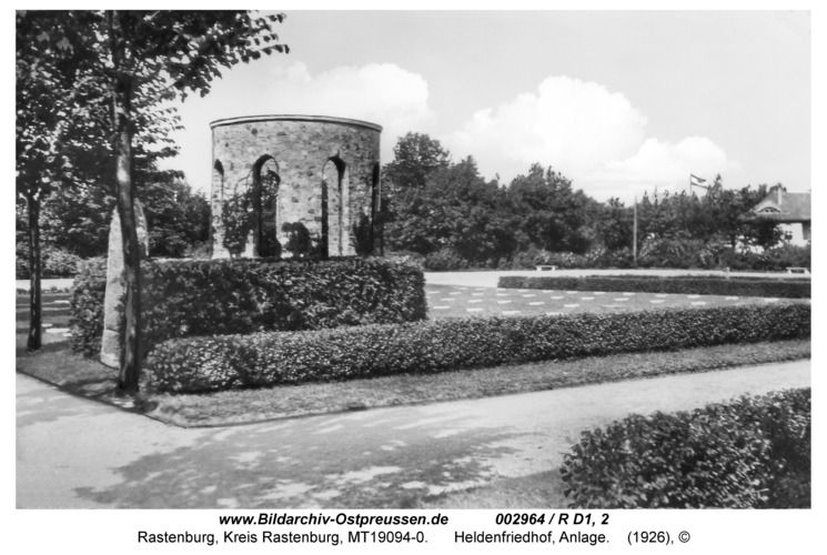 Rastenburg, Heldenfriedhof, Anlage