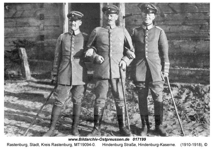 Rastenburg, Hindenburg Straße, Hindenburg-Kaserne