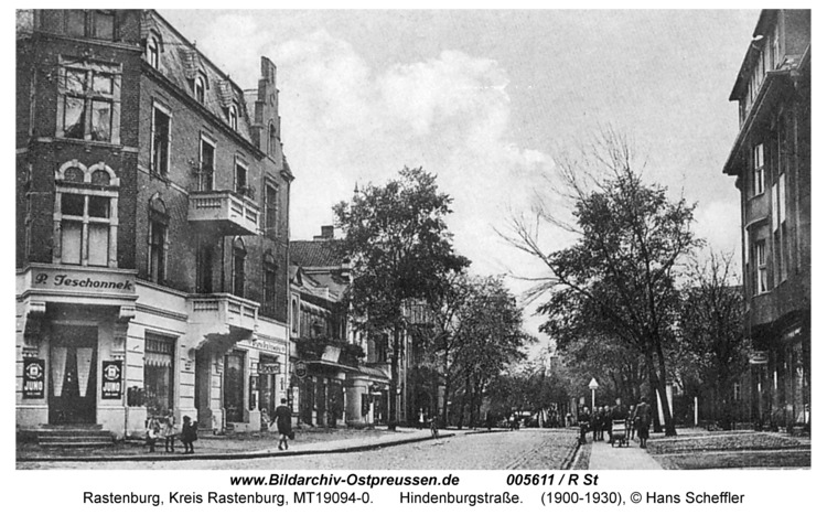 Rastenburg, Hindenburgstraße