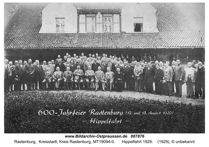 Rastenburg, Hippelfahrt 1929