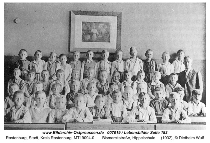 Rastenburg, Bismarckstraße, Hippelschule