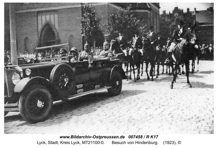 Lyck, Besuch von Hindenburg
