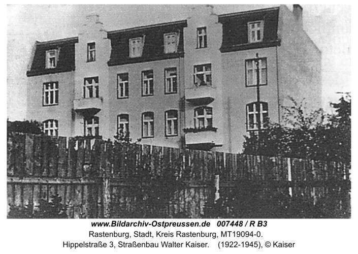 Rastenburg, Hippelstraße 3, Straßenbau Walter Kaiser